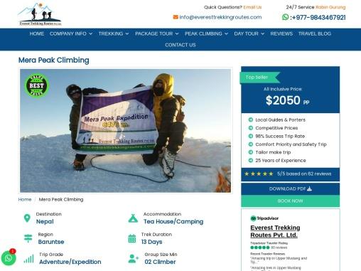 Mera Peak Climbing Packages in Nepal
