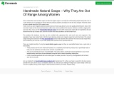 Handmade Natural Soaps – Why They Are Out Of Range Among Women