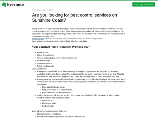 Are you looking for pest control services on Sunshine Coast?