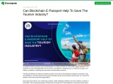 Can Blockchain E-Passport Help To Save The Tourism Industry?