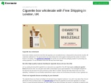 Cardboard cigarette boxes wholesale at Best Price in London, UK