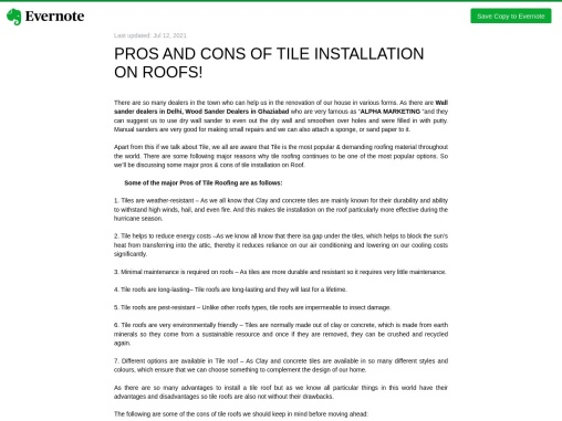 PROS AND CONS OF TILE INSTALLATION ON ROOFS!