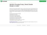 Injection Grouting Pump | Wood Sander Dealers In Delhi