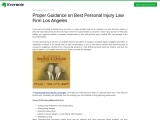 Proper Guidance on Best Personal Injury Law Firm Los Angeles