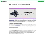 Hair extension packaging wholesale with free shipping in Texas, USA