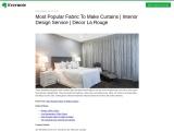 Decor La Rouge – Best Vancouver Most Popular Fabric To Make Curtains   Interior Design Service