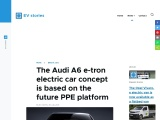 The new Audi A6 e-tron electric car from 2023