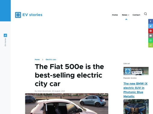 The Fiat 500e is the best-selling electric city car