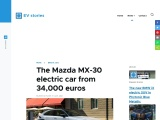 The all-electric Mazda MX-30 arrived in Europe