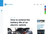 How to extend the battery life of an electric car