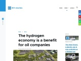 The hydrogen economy is a benefit for oil companies