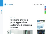 Siemens exhibits a charging station that is automated