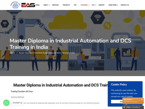PLC SCADA DCS Automation Instrumentation Training in India