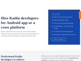 Hire Dedicated Kotlin developers for Android app