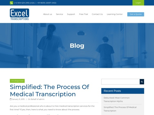 Simplified: The Process Of Medical Transcription