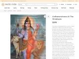 Ardhanarishvara At The Himalayas Oil Paintings On Canvas