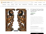 South Indian Wood Carving – Traditional Yali Temple Pillars