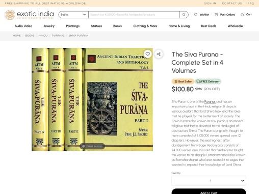 Get The Siva Purana – Complete Set in 4 Volumes