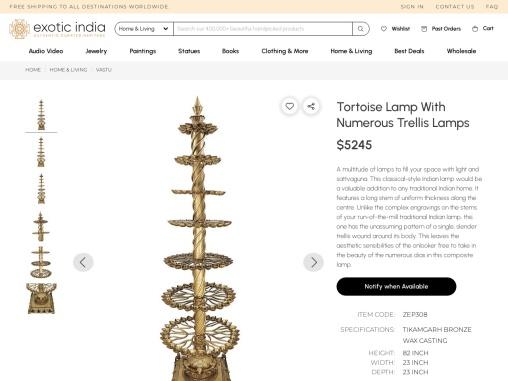 Tortoise Lamp With Numerous Trellis Lamps Tikamgarh Bronze Wax Casting