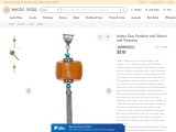 Get Amber Dust Pendant with Shower and Turquoise