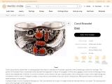 Silver Sterling Coral Bracelet