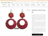 Get Copper Alloy Meenakari Hoop Earrings