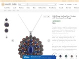 Multi-Stone Sterling Silver Pendant with Lapis Lazuli Gemstones from Nepal