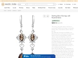 Get Sterling Silver Earrings with Faceted Gems