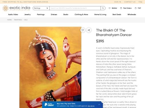 The Bhakti Of The Bharatanatyam Dancer – Oil Painting On Canvas