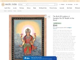 The Birth Of Lakshmi-A Symbolic Pot Of Wealth In Her Hand in Watercolor Painting