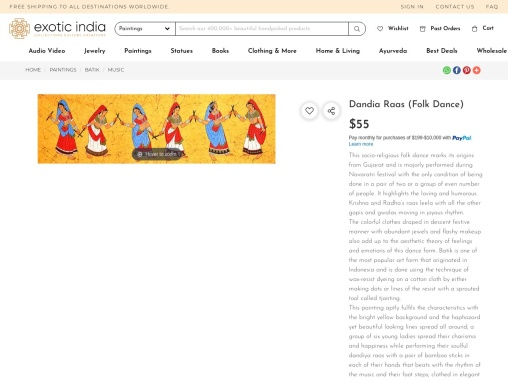Beautiful Batik Paintings on Cotton – Dandia Raas – Folk Dance