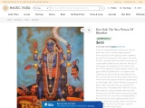 Oil Painting Of Devi Kali-The Very Picture Of Bloodlust On Canvas
