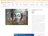 The Glowing Face Of The Buddha Painting-Oil And Acrylic On Canvas