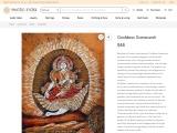 Get Goddess Saraswati Batik Painting On Cotton