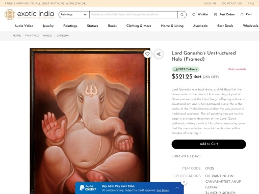 Lord Ganesha's Unstructured Halo – Oil Paintings On Canvas