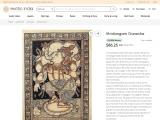 Mridangam Ganesha-Orissa Paata Watercolor Painting On Tussar Silk