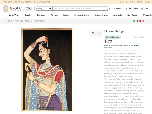 Get Beautiful Nayika Shringar – Watercolor Paintings