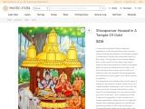 Canvas Oil Paintings-Shivaparivar Housed in A Temple of Gold