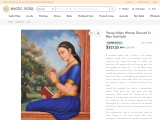 Get Oil Painting On Canvas – Young Indian Woman Dressed In Blue And Gold