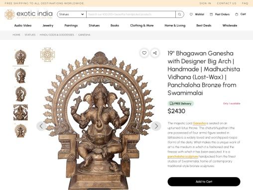 Handmade Bhagawan Ganesha Bronze Statue With Designer Big Arch