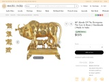 Abode Of The Devagana-The Cow Brass Statue