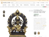 Ashtabhuja Dhari Simhavahini Durga Brass Statue