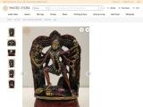 The Beauty Of Dashabhuja Kali-Brass Statue