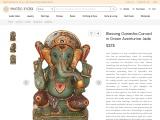 Get Blessing Ganesha Carved in Green Aventurine Jade
