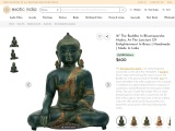 The Buddha In Bhumisparsha Mudra Brass Statue- At The Juncture Of Enlightenment