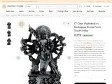 Devi Mahakali- Mahabalipuram South Indian Stone Statue
