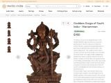 Wooden Sculpture Goddess Durga of South India – Mariamman