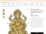 King Ganesha Brass Sculpture Granting Abhaya