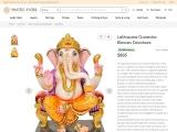 Beautiful White Marble Lalitasana Ganesha Blesses Devotees