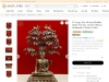 Get Large Size Brass Sculpture Nirvana Buddha Under the Tree of Life